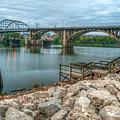 Rocks By The River - Little Rock Arkansas by Gregory Ballos