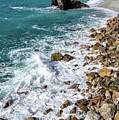 Rocks Of Monterosso, Cinque Terre, Italy by Global Light Photography - Nicole Leffer