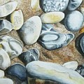 Rocks On Beach by Suzahn King