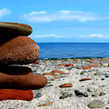 Rocks On The Beach by Bruce Nutting