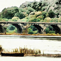 Rockville Bridge On The Susquehanna River by Leslie Montgomery