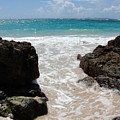 Rocky Beach In The Caribbean by Margaret Bobb
