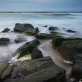 Rocky Coast Of New Jersey by Roland Hall