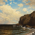 Rocky Coast With Breaking Waves by Alfred Thompson