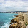 Rocky Coastline In Nice, France by Liesl Walsh
