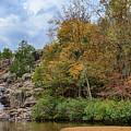 Rocky Falls In The Fall by Terri Morris