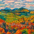 Rocky Knob In Fall by Kendall Kessler