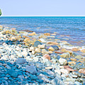 Rocky Lake Superior Shoreline Near North Country Trail In Pictured Rocks National Lakeshore-michigan by Ruth Hager