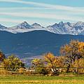 Rocky Mountain Autumn Farming Panorama by James BO Insogna