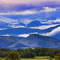 Rocky Mountain Cloud Layers by James BO  Insogna