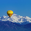 Rocky Mountain Hot Air Balloon by Teri Virbickis