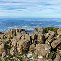 Rocky Mountain Summit Overlooking Beautiful Vally by Andrew Balcombe