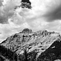 Rocky Mountains Of Colorado  Black And White by Brendan Reals