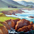 Rocky Point Afternoon Big Sur by Karin  Leonard