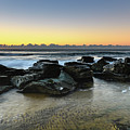Rocky Seascape by Merrillie Redden