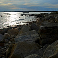 Rocky Shore Sunset by Mark Wiley