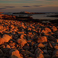 Rocky Shoreline And Islands At Sunset by Irwin Barrett