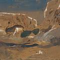 Rocky Valley Of Mosta. Malta by Edward Lear