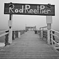 Rod And Reel Pier In Fog In Infrared 53 by Rolf Bertram