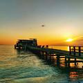 Rod And Reel Pier Sunrise 2 by Allen Williamson