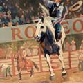 Rodeo   Bareback Bronc Painting by Kim Corpany