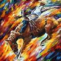 Rodeo - Dangerous Games by Leonid Afremov