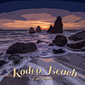 Rodeo Beach Vintage Tourism Poster by Rick Berk