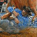 Rodeo Houston --steer Wrestling by Doug Kreuger