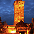 Rodertor At Twilight In Rothenburg by Greg Matchick
