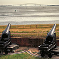 Rodman Cannons At Fort Mchenry National Monument And Historic Shrine by Bill Swartwout Fine Art Photography