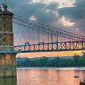 Roebling Suspension Bridge - Cincinnati, Ohio by Edward Moorhead