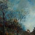 Roedeer In The Morning by Pol Ledent