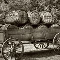 Roll Out The Barrels Sepia Tone by Mel Steinhauer
