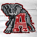 Roll Tide Alabama Crimson Tide Recycled State License Plate Art by Design Turnpike