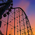 Roller Coaster At Sunset by Eena Bo