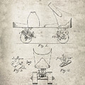 Roller Skate Patent - Patent Drawing For The 1882 F. A. Combes Roller Skate by Jose Elias - Sofia Pereira