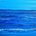 Rolling Blue, Triptych 2 Of 3 by Kathleen Arco