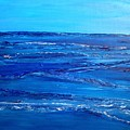 Rolling Blue, Triptych 3 Of 3 by Kathleen Arco