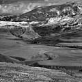 Rolling Hills At The Mammoth Entrance Black And White by Adam Jewell