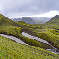 Rolling Lava Flows Entering Iceland's Thorsmork Nature Reserve by Alex Blondeau