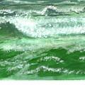 Rolling Ocean Waves by Rhonda Myers