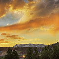 Rollinsville Colorado Trains And Sunset by James BO Insogna