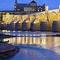 Roman Bridge On Guadalquivir River At Dawn by Artur Bogacki