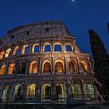 Roman Coliseum In The Evening  by John McGraw