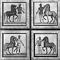 Roman Mosaic: Charioteers by Granger