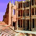 Roman Ruins At Sabrayha by Dominic Piperata