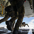 Romanian Paratroopers Perform A Halo by Stocktrek Images