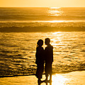 Romantic Beach Silhouette by Robert VanDerWal