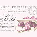 Romantic French Victorian Postcard by Leah McPhail