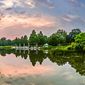 Romantic Pond In Park In Hamburg by JR Photography